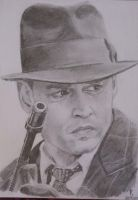 Johnny Depp as John Dillinger by kasunjill