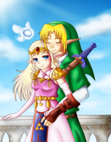 Link and Zelda by frijole007