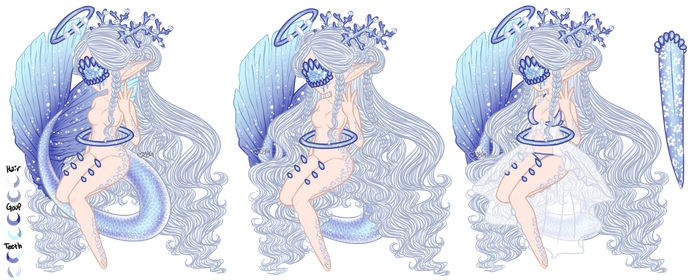 Mermay: Xynthii Adopt: Day 17: Goddess: CLOSED by ObsceneBarbie