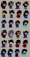 Homestuck BloodSwap Sprites by sleuthingLicorice