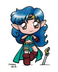 Sailor Ashera Chibi by SarahsPlushNStuff