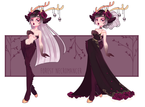 Deer Necromancer - CLOSED by lana-jay