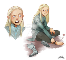 Legolas Child sketches by MarineElphie