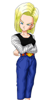 Android 18 Arms Crossed Render by Madmaxepic