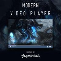 Free PSD Modern Video Player by graphicloots