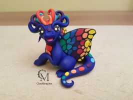 blue butterfly dragon by claymeeples