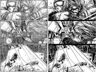 Wild Blue Yonder Issue 6 Page 16 Pencils and inks by Spacefriend-KRUNK