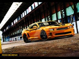 Camaro Black and Yellow by rookiejeno