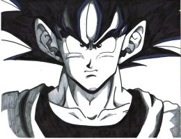 goku close up by trunks24