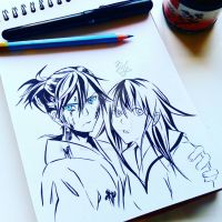 Yato and Hiyori by anastasiiaart