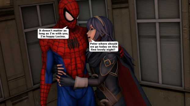 Lucina and Spider-Man wondering where to go by kongzillarex619