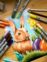 Easter bunny by Lya-Ra