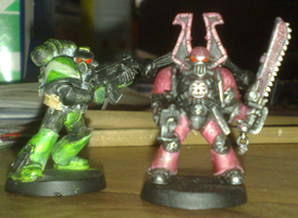 custom paint Bezerker + marine by orgxiiifreak
