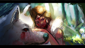 Princess Mononoke by AkaneLinken