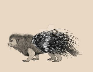 Beastiary- Giant red-spined porcupine by SarahFraggle