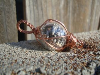 Peace and Healing Lavender/Copper Fairy Lantern by TheWingedBoggart