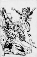 Fred Benes: Rogue+Gambit by comiconart