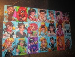 DC Bombshells official cards 2 by MaryBellamy