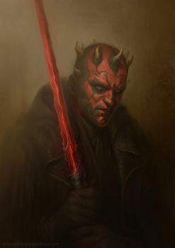 Medieval Fantasy Darth Maul by litanilitani