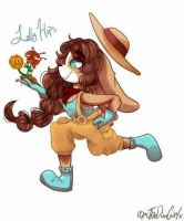 Tigerlilies and Dandelions (ART TRADE) by p0cketpainter