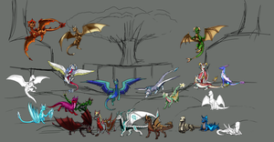 Some many dragons part 2 WIP by Eternity9