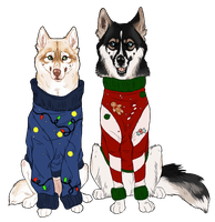 Ugly Christmas Sweaters by Evrott