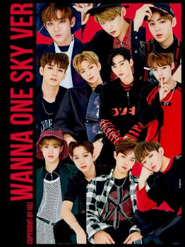 Wanna One SKY VER 11P png by hyukhee05