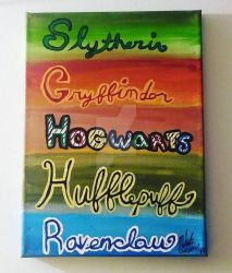 Hogwarts Houses 9x12 by wolf-girl87