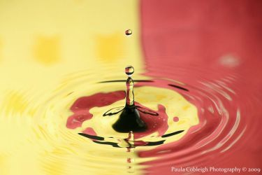 Yellow and Red Water Drop by La-Vita-a-Bella