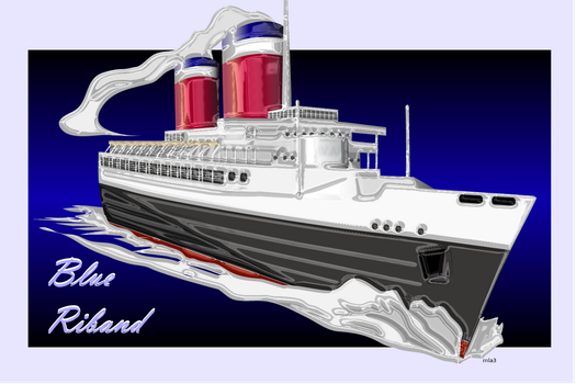 SS United States Blue Riband by EsqapeVelocity
