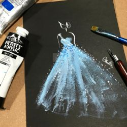Blue wedding dress by Bellaelysium