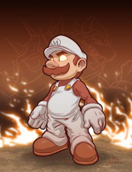 Fire Lord: Mario by Chadwick-J-Coleman