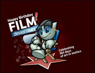 Film Birthday CSS and text by deviantartfilm