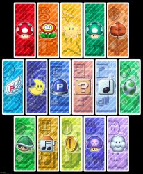 Super Mario Bookmark Set by zanazac