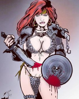 red sonja by celauterio