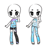 Summer Rain Outfit Adopts - CLOSED by MaiaSadoptsNstuff