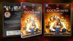 Doctor Who - The Five Doctors Custom Blu Ray Cover by GrantBattersby