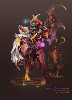 Invoker and Doom by CurlyJul