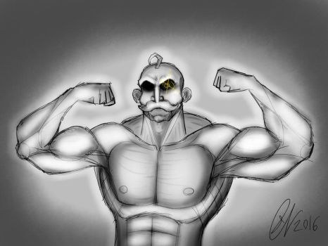 Buffboy Doodle by Leightoons