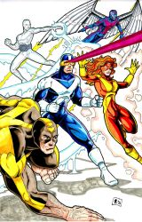 X-Factor marker pin-up by Jrascoe