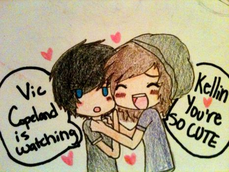 Kellin and  Vic doodle number two by cascadeofstars