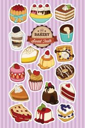 Sweet Teeth - Dessert Stickers by miaow