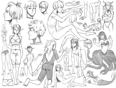 sketches 3 by kos-tyan