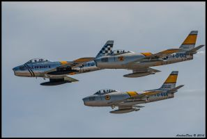 The Horsemen F-86's by AirshowDave