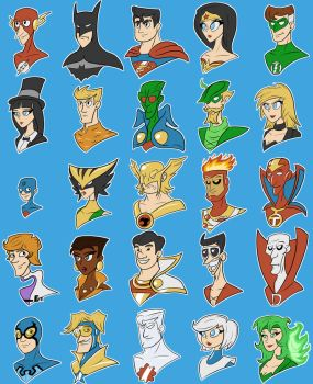 DC Heroes by SilverCrab