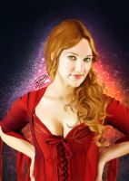 Meryem uzerli Digital Painting by KarimStudio