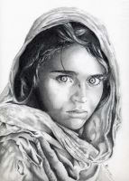 Afghan girl by fabri360