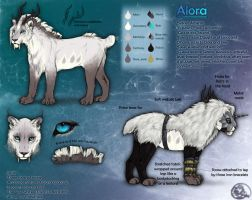 Alora reference sheet 2012 by LeoNoy
