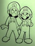 Mario and Luigi by Zeragii