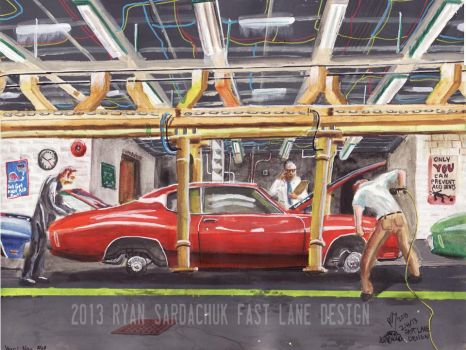 The Life Story Of A 1970 Chevy Chevelle (Part 1) by FastLaneIllustration